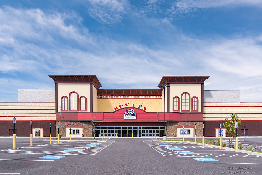 Exterior Image of the Lexington Exchange Movie Theater in California MD by Jeffrey Sauers of Commercial Photographics, Architectural Photo Artistry in Washington DC, Virginia to Florida and PA to New England