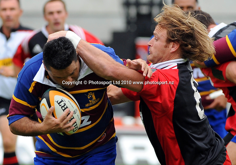 Rugby union match, Canterbury Crusaders Legends v Otago<br /> Highlanders Legends, AMI Stadium, Christchurch, New Zealand. Saturday 13<br /> February 2010. Photo: Chris Symes/PHOTOSPORT