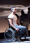 Pink Mist <br /> by Owen Sheers<br /> at Bush Theatre, London, Great Britain <br /> 26th January 2016 <br /> press photocall<br /> <br /> Alex Stedman as Hads<br /> <br /> <br /> Photograph by Elliott Franks <br /> Image licensed to Elliott Franks Photography Services