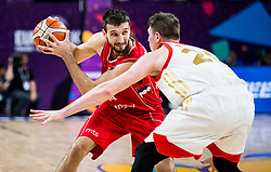 Stefan Bircevic of Serbia vs Andrey Vorontsevich of Russia during basketball match between National Teams of Russia and Serbia at Day 16 in Semifinal of the FIBA EuroBasket 2017 at Sinan Erdem Dome in Istanbul, Turkey on September 15, 2017. Photo by Vid Ponikvar / Sportida