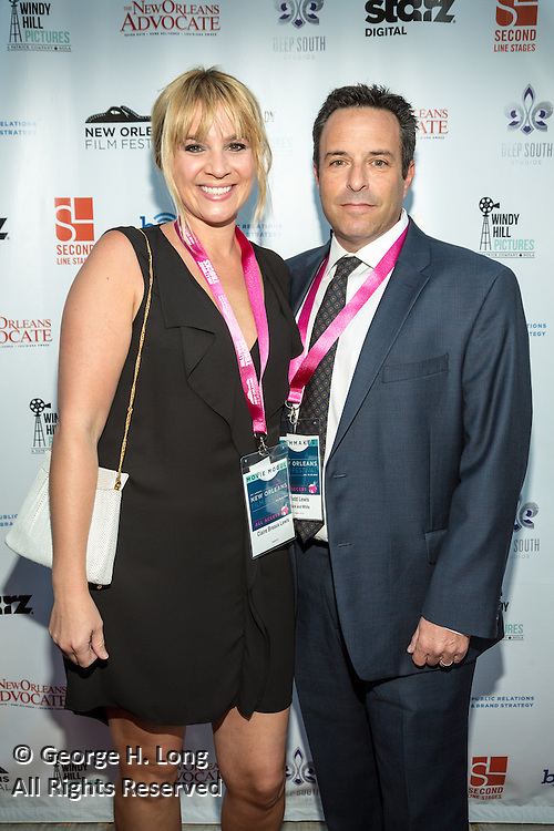 Claire and Todd Lewis on the red carpet during opening night of the 25th Anniversary New Orleans Film Festival; Opening night film is 'Black and White' directed by Mike Binder