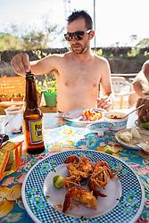 River prawns and a cold cerveza<br /> Casey Coffman