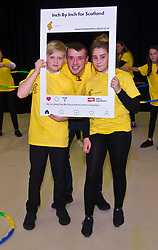 Pictured: Chef Jordan Docherty was joined by Oscar Murphy (13) and Laurel Brown (13) for a snap-chat image<br /> Inch by Inch for Scotland launched a major national obesity campaign today at Portobello High School. Chef Jordan Docherty was on hand to show how he turned his life around from drink and drugs in his early life with support from the campaign.  He was keen to show the school students that they could make healthy food on a budget and his version of a pot noodle made in five miutes went down well.    'Inch by Inch for Scotland' is a campaign aimed at reducing obesity amongst the population of Scotland by creating positive content aimed at teenagers and families to challenge them to take part in exercises or in preparing a healthier diet.<br /> <br /> The core idea for the campaign is to encourage teenagers and parents to do a small change or to take part in a small activity that will hopefully create an incremental change where people want to live healthier lives. Ultimately the goal is to change the culture of the nation, although we understand that we need to take small incremental steps at first – hence – 'Inch by Inch'.<br /> <br /> <br /> Ger Harley   EEm 7 September 2017