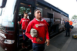 Niclas Eliasson of Bristol City arrives at the Hawthorns for the Sky Bet Championship fixture against West Bromwich Albion - Mandatory by-line: Robbie Stephenson/JMP - 18/09/2018 - FOOTBALL - The Hawthorns - West Bromwich, England - West Bromwich Albion v Bristol City - Sky Bet Championship
