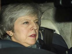 © Licensed to London News Pictures. 12/12/2018. London, UK. British Prime Minister THERESA MAY leaving the Houses of Parliament in Westminster after facing a vote of confidence from her own party. Photo credit: Ben Cawthra/LNP