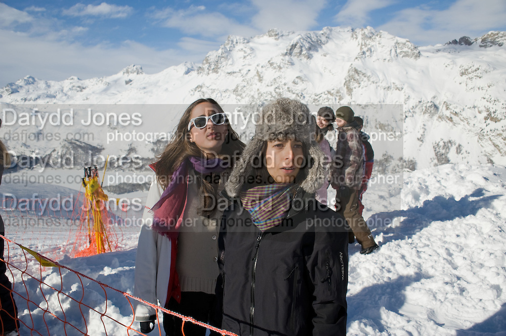 ANASTASIA GRAZIOLI; ALEXANDRA ORSI, Children and Adult ski race in aid of the Knights of Malta,  Furtschellas. St. Moritz, Switzerland. 23 January 2009 *** Local Caption *** -DO NOT ARCHIVE-© Copyright Photograph by Dafydd Jones. 248 Clapham Rd. London SW9 0PZ. Tel 0207 820 0771. www.dafjones.com.<br /> ANASTASIA GRAZIOLI; ALEXANDRA ORSI, Children and Adult ski race in aid of the Knights of Malta,  Furtschellas. St. Moritz, Switzerland. 23 January 2009