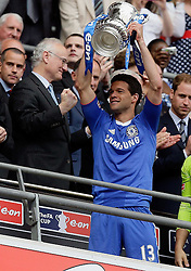 15.05.2010, Wembley Stadium, London, ENG, FA Cup Finale, Chelsea FC vs Portsmouth FC, im Bild Michael Ballack, Chelsea mit dem FA CUP Pokal, EXPA Pictures © 2010, PhotoCredit: EXPA/ IPS/ Marcello Pozzetti / SPORTIDA PHOTO AGENCY