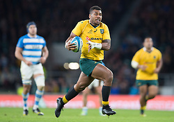 October 9, 2016 - London, Greater London, England - Australia's Samu Kerevi running in his second try during The Rugby Championship match between Argentina and Australia at WembleyTwickenham on 8th October 2016  (Credit Image: © Kieran Galvin/NurPhoto via ZUMA Press)