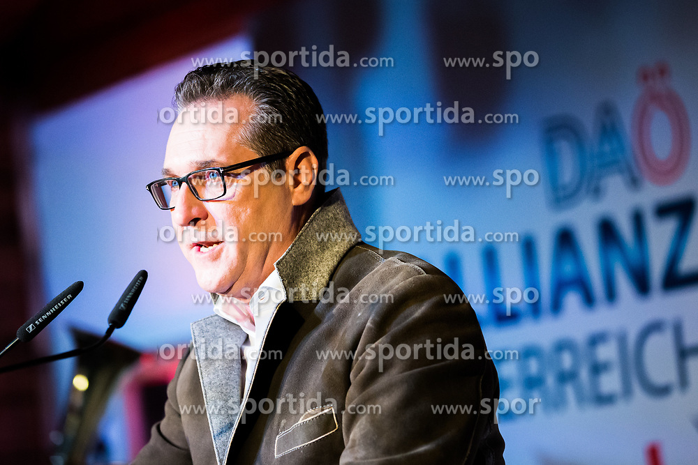 "27.02.2020, Prater Alm, Wien, AUT, Aschermittwochtreffen ""Die Allianz für Österreich"" mit HC Strache, im Bild Heinz Christian Strache// Ash Wednesday meeting ""The Alliance for Austria"" with HC Strache in Vienna, Austria on 2020/02/26, EXPA Pictures © 2020, PhotoCredit: EXPA/ Florian Schroetter"
