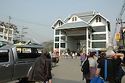 Myanmar and Thailand border at Mai Sai the border crossing post