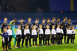 Players of GNK Dinamo Zagreb during football match between GNK Dinamo Zagreb and Olympiakos in Group F of Group Stage of UEFA Champions League 2015/16, on October 20, 2015 in Stadium Maksimir, Zagreb, Croatia. Photo by Urban Urbanc / Sportida