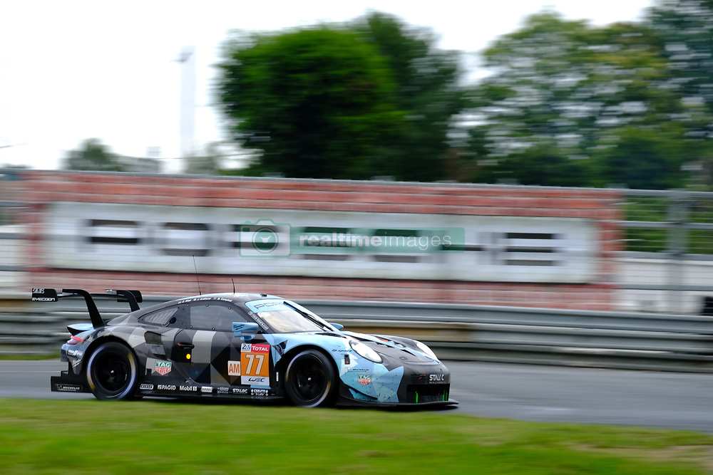 June 17, 2018 - Le Mans, Sarthe, France - Dempsey-Proton Racing PORSCHE 911 RSR Driver CHRISTIAN RIED (GER) in action during the 86th edition of the 24 hours of Le Mans 2nd round of the FIA World Endurance Championship at the Sarthe circuit at Le Mans - France (Credit Image: © Pierre Stevenin via ZUMA Wire)