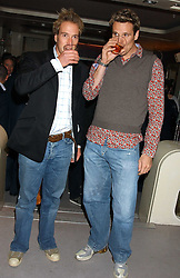 Left to right, BEN FOGLE and JAMES CRACKNELL at a party to celebrate Ben Fogle and James Cracknell's forthcoming rowing challenge across the atlantic held at Mint, Sloane Strete, London on 17th November 2005.<br /><br />NON EXCLUSIVE - WORLD RIGHTS