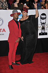 Willie Moore Jr. and Darlene McCoy at The 49th NAACP Image Awards held at the Pasadena Civic Auditorium on January 15, 2018 in Pasadena, CA, USA (Photo by Sthanlee B. Mirador/Sipa USA)