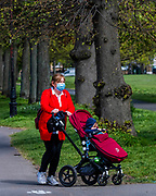 Clapham Common is pretty quiet now as it is colder and Lambeth Council has taped up all the benches, put up signs and organised patrols by wardens. The 'lockdown' continues for the Coronavirus (Covid 19) outbreak in London.