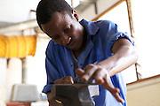Bosco D Kisumo, 23, welding student, VETA, Mtwara, Tanzania.