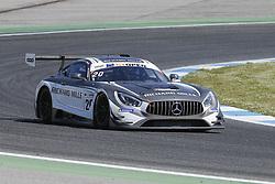 April 14, 2018 - Estoril, Estoril, Portugal - Mercedes AMG GT3 of SPS Automotive Performance driven by Valentin Pierburg and Tom Onslow-Cole during Race 1 of International GT Open, at the Circuit de Estoril, Portugal, on April 14, 2018. (Credit Image: © Dpi/NurPhoto via ZUMA Press)