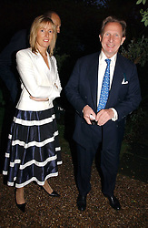 PADDY MCNALLY and SARAH TYZACK at the annual Chelsea Flower Show dinner hosted by jewellers Cartier at the Chelsea Pysic Garden, London on 22nd May 2006.<br /><br />NON EXCLUSIVE - WORLD RIGHTS
