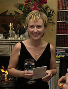 Tina Brown. Tina Brown CBE and Birthday party hosted by Sally Greene. Cheyne Walk. London 21 November 2000. © Copyright Photograph by Dafydd Jones 66 Stockwell Park Rd. London SW9 0DA Tel 020 7733 0108 www.dafjones.com