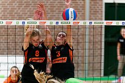 26-10-2019 NED: Dros Alterno - Set Up 65, Apeldoorn<br /> Round 4 of Eredivisie volleyball - Kimberly Smit #8 of Set Up, Pien Vos #3 of Set Up