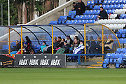 Disabled football fans, football supporters during the EFL Sky Bet League 1 match between Peterborough United and AFC Wimbledon at ABAX Stadium, London Road, Peterborough, England on 22 October 2016. Photo by Stuart Butcher.
