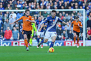 Birmingham City's Jon Toral breaks with the ball during the Sky Bet Championship match between Birmingham City and Wolverhampton Wanderers at St Andrews, Birmingham, England on 31 October 2015. Photo by Shane Healey.