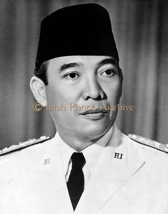 Ahmed Sukarno (1901-1970) principal leader  of Indonesia's nationalist movement against the Dutch, and the country's first president (1945-1968).  Politician Statesman