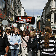Stroget, the walking street is just over 1000 meters long, making it Europe's longest pedestrian only street.<br /> Photography by Jose More