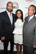 7 April 2011- New York,  NY- l to r: Don Coleman, Tamika Mallory, National Executive Director and Rev. Al Sharpton, Founder, National Action Network at Uptown Magazine Presents the National Action Network's Executive Director's Reception held at the The Empire Room in the Empire State Building on April 7, 2011 in New York City. Photo Credit: Terrence Jennings