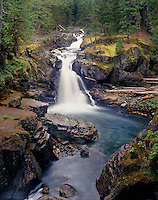 Silver Falls Mount Rainier National Park Washington USA