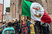 Residents carry the statue of St Michael from the Parroquia de San Miguel Arcangel church in a procession during the week long fiesta of the patron saint Saint Michael September 24, 2017 in San Miguel de Allende, Mexico.