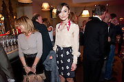LINDY KING; kEIRA KNIGHTLEY;  The Society of London Theatre lunch for all the nominees for the 2010 Laurence Olivier Awards. Haymarket Hotel, 1 Suffolk Place, London, 2 March 2010