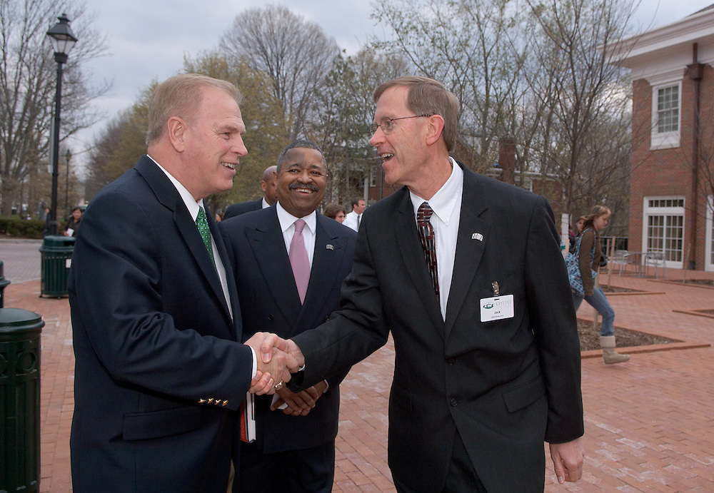 Governor Strickland's visit to Ohio University, April 9, 2007..Greeted by Dr. Jack Brose, dean of the College of Osteopathic Medicine, who will show the governor the van and the purposes it serves.