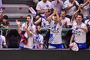 DESCRIZIONE : Campionato 2014/15 Serie A Beko Dinamo Banco di Sardegna Sassari - Grissin Bon Reggio Emilia Finale Playoff Gara4<br /> GIOCATORE : Matteo Formenti Massimo Chessa Giacomo Devecchi<br /> CATEGORIA : Ritratto Esultanza Panchina<br /> SQUADRA : Dinamo Banco di Sardegna Sassari<br /> EVENTO : LegaBasket Serie A Beko 2014/2015<br /> GARA : Dinamo Banco di Sardegna Sassari - Grissin Bon Reggio Emilia Finale Playoff Gara4<br /> DATA : 20/06/2015<br /> SPORT : Pallacanestro <br /> AUTORE : Agenzia Ciamillo-Castoria/GiulioCiamillo