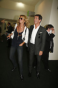 Elle Macpherson and Tim Jefferies, The Professional View and Private View of Frieze Art Fair. London. 11 october 2006. -DO NOT ARCHIVE-© Copyright Photograph by Dafydd Jones 66 Stockwell Park Rd. London SW9 0DA Tel 020 7733 0108 www.dafjones.com