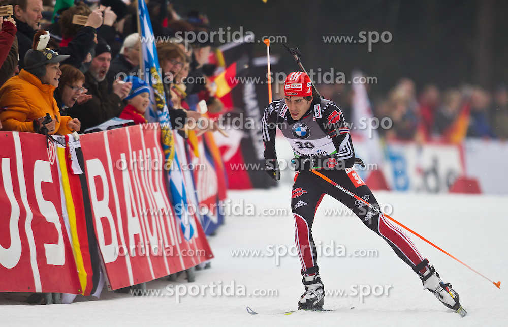 14.01.2011, Chiemgau Arena, Ruhpolding, GER, IBU Biathlon Worldcup, Ruhpolding, Sprint Men, im Bild Arnd Peiffer (GER) // Arnd Peiffer (GER) during IBU Biathlon World Cup in Ruhpolding, Germany, EXPA Pictures © 2011, PhotoCredit: EXPA/ J. Feichter
