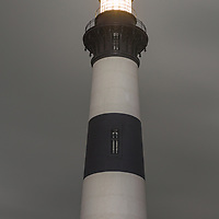 Bodie Island Lighthouse at night. Cape Hatteras National Seashore, NC