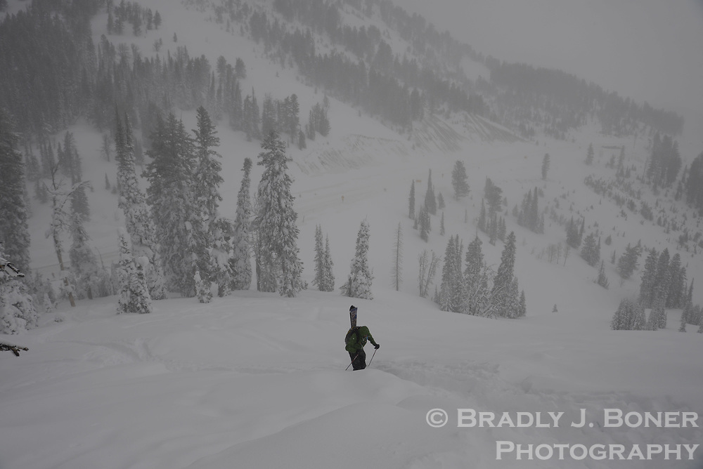 Skiing on Teton Pass