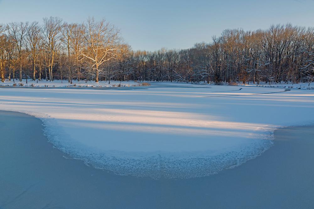 Nomahegan Park in winter, Cranford, New Jersey