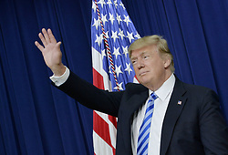 April 4, 2017 - Washington, District of Columbia, U.S. - United States President Donald Trump speaks during a CEO town hall on the American business climate in the South Court Auditorium of the White House. (Credit Image: © Olivier Douliery/CNP via ZUMA Wire)