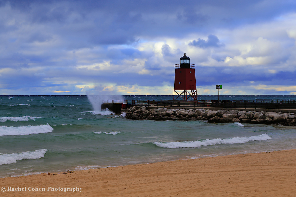&quot;Charlevoix Lighthouse Storm&quot; 2<br />
