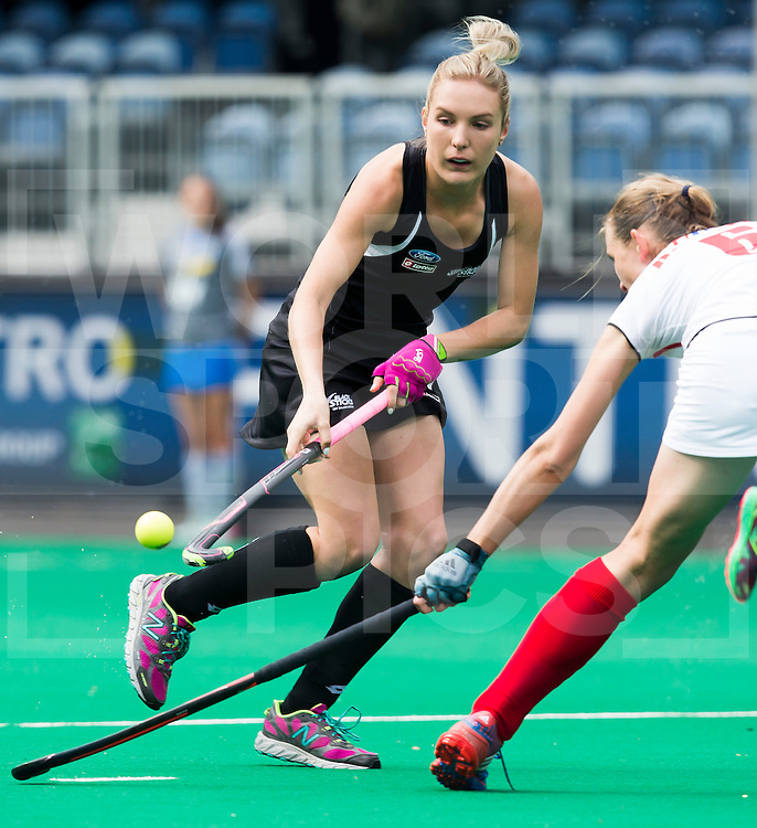 BRASSCHAAT (ANTWERP) -  New Zealand Olivia Merry during the Fintro Hockey World League Semi-Final match between the women of New Zealand and Poland. COPYRIGHT WORLDSPORTPICS KOEN SUYK