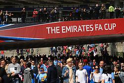 23 April 2017 - The FA Cup - Semi Final - Arsenal v Manchester City - Fans arrive at Wembley Park tube station - Photo: Marc Atkins / Offside.