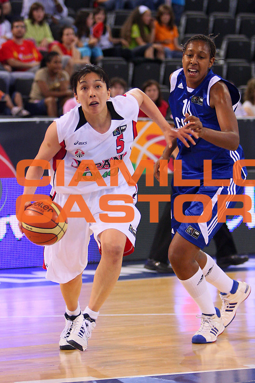 DESCRIZIONE : Madrid 2008 Fiba Olympic Qualifying Tournament For Women Semifinals Cuba Japan <br /> GIOCATORE : Noriko Koiso <br /> SQUADRA : Japan Giappone <br /> EVENTO : 2008 Fiba Olympic Qualifying Tournament For Women <br /> GARA : Cuba Japan Cuba Giappone <br /> DATA : 14/06/2008 <br /> CATEGORIA : Penetrazione <br /> SPORT : Pallacanestro <br /> AUTORE : Agenzia Ciamillo-Castoria/S.Silvestri <br /> Galleria : 2008 Fiba Olympic Qualifying Tournament For Women<br /> Fotonotizia : Madrid 2008 Fiba Olympic Qualifying Tournament For Women Semifinals Cuba Japan <br /> Predefinita :