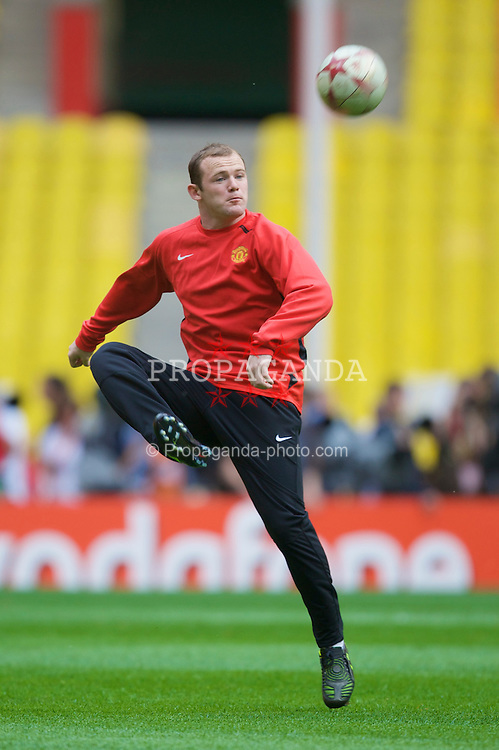 MOSCOW, RUSSIA - Tuesday, May 20, 2008: Manchester United's Wayne Rooney during training ahead of the UEFA Champions League Final against Chelsea at the Luzhniki Stadium. (Photo by David Rawcliffe/Propaganda)