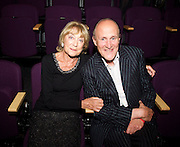 DAME GILLIAN LYNNE with  SIR PETER BAZALGETTE<br /> <br /> Dance UK Conference opening event at The Place, London, Great Britain <br /> 9th April 2015 <br /> <br /> THE UK'S FIRST-EVER INDUSTRY-WIDE DANCE CONFERENCE 9-12 APRIL, HOSTED BY DANCE UK. <br /> THE FUTURE: NEW IDEAS, NEW INSPIRATIONS OPENS AT THE PLACE <br /> KEYNOTE SPEAKERS DAME GILLIAN LYNNE, SIR KEN ROBINSON AND SIR PETER BAZALGETTE, COMPARED BY ARLENE PHILLLIPS CBE AND ASHLEY BANJO. <br /> OPENING CELEBRATION PERFORMERS INCLUDE BBC STRICTLY COME DANCING'S ROBIN WINDSOR & KRISTINA RIHANOFF, NATIONAL DANCE COMPANY OF WALES, TENIESHA BONNER AND VERVE (Graduate Company of Northern School of Contemporary Dance). <br /> <br /> Photograph by Elliott Franks