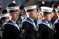 © Licensed to London News Pictures. 11/11/2012. Birmingham, UK. Birmingham Remembrance Parade. Pictured, Sailors from HMS Forward on parade. Photo credit : Dave Warren/LNP