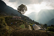 — On the southern slopes of the Annapurnas, hill tribes have been practicing subsistence farming for centuries. The rugged, mountainous terrain ensured that places like this were reliable zones of refuge for those who wanted to live autonomously.