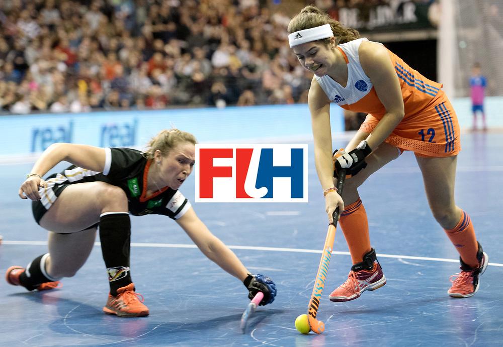 BERLIN - Indoor Hockey World Cup<br /> Final: Netherlands - Germany<br /> foto: Noor de Baat <br /> WORLDSPORTPICS COPYRIGHT FRANK UIJLENBROEK