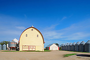 Yellow barn & Grain bins in farmyard - Property Released<br /> Yellow Grass<br /> Saskatchewan<br /> Canada